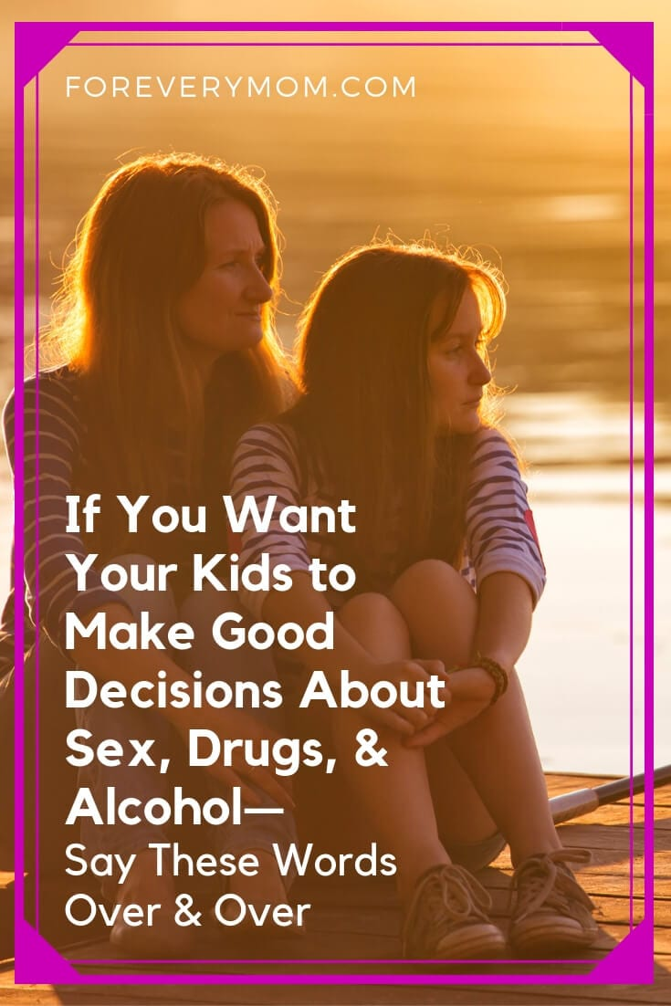 mother and daughter having a talk about drugs and alcohol