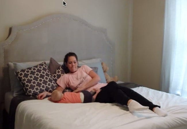 Mom Shares Bed With Son