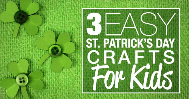 We plucked some of the best (and easiest!) St. Patrick's Day crafts for kids straight from Pinterest for you. Kiss me, I'm crafty! #kidcrafts #holidays #Irish #clover #crafts #DIY