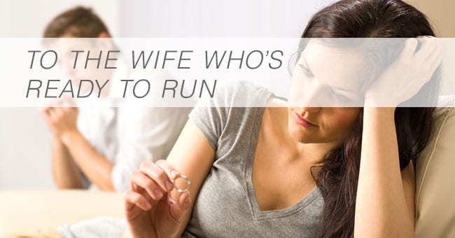 run from marriage