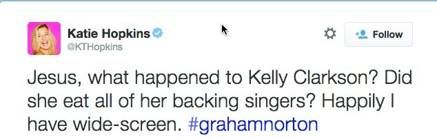 kelly clarkson fat shaming tweet
