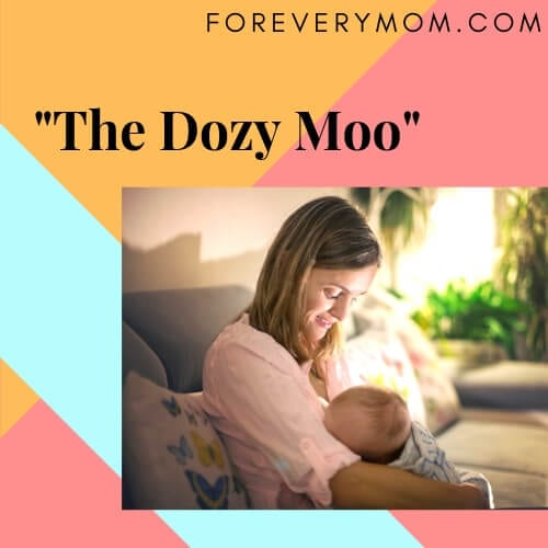 The Dozy Moo sleeping position for parents