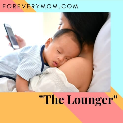 The Lounger sleeping position for parents