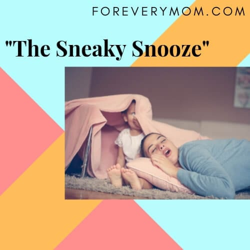 the sneaky snooze sleeping position for parents
