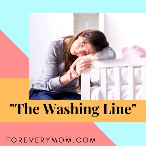the washing line sleeping position for parents