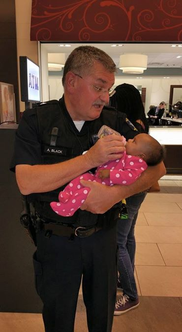 officer with baby