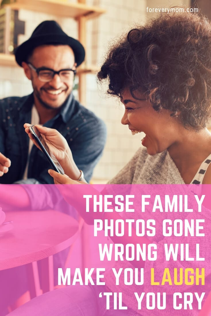 family photos gone wrong