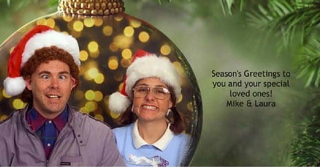 This familys made hysterically awkward christmas photo cards for 12 friends and family of mike and laura bergeron wait with bated breath every year to get their christmas card no its not filled with cash or gift cards m4hsunfo