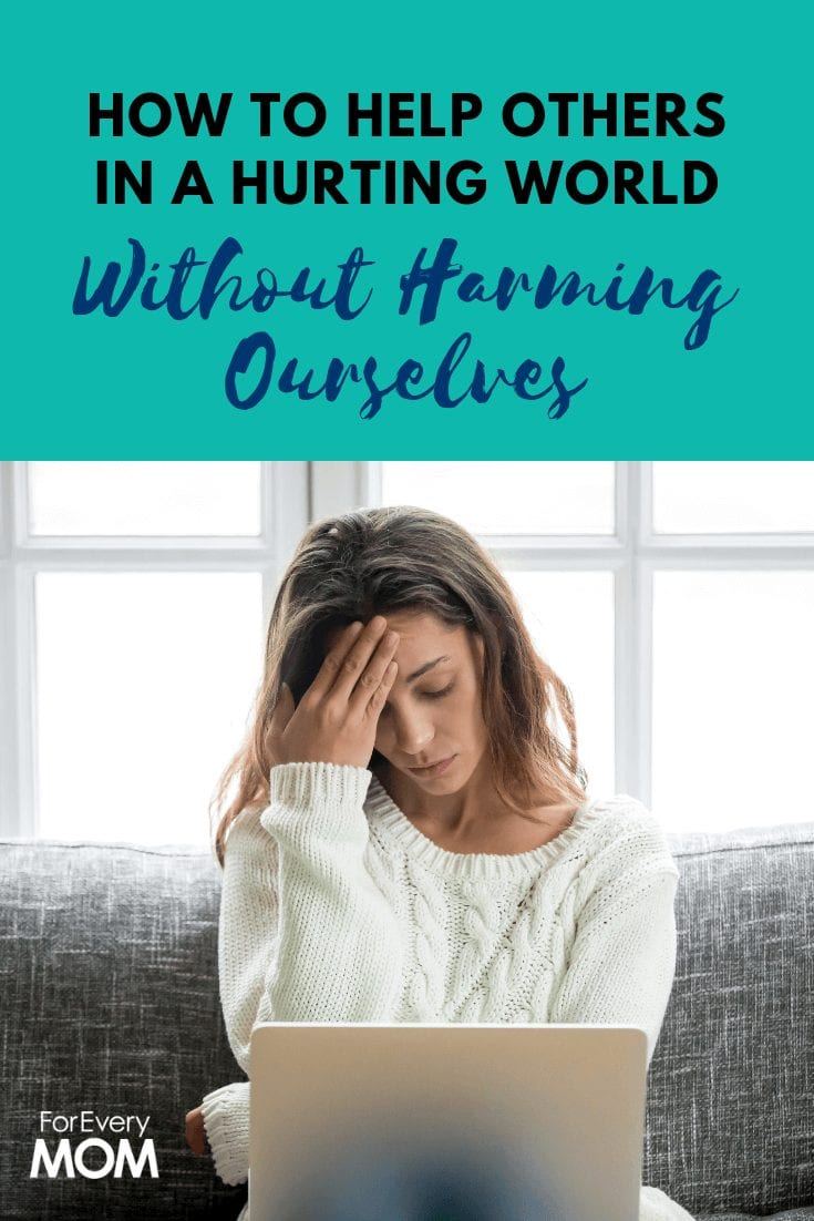 How can we help others, especially if we naturally tend toward anxiety, when the hurting world we live in makes us so very, very anxious? Here's how.