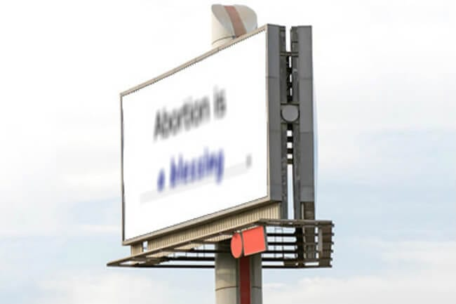 abortion billboards