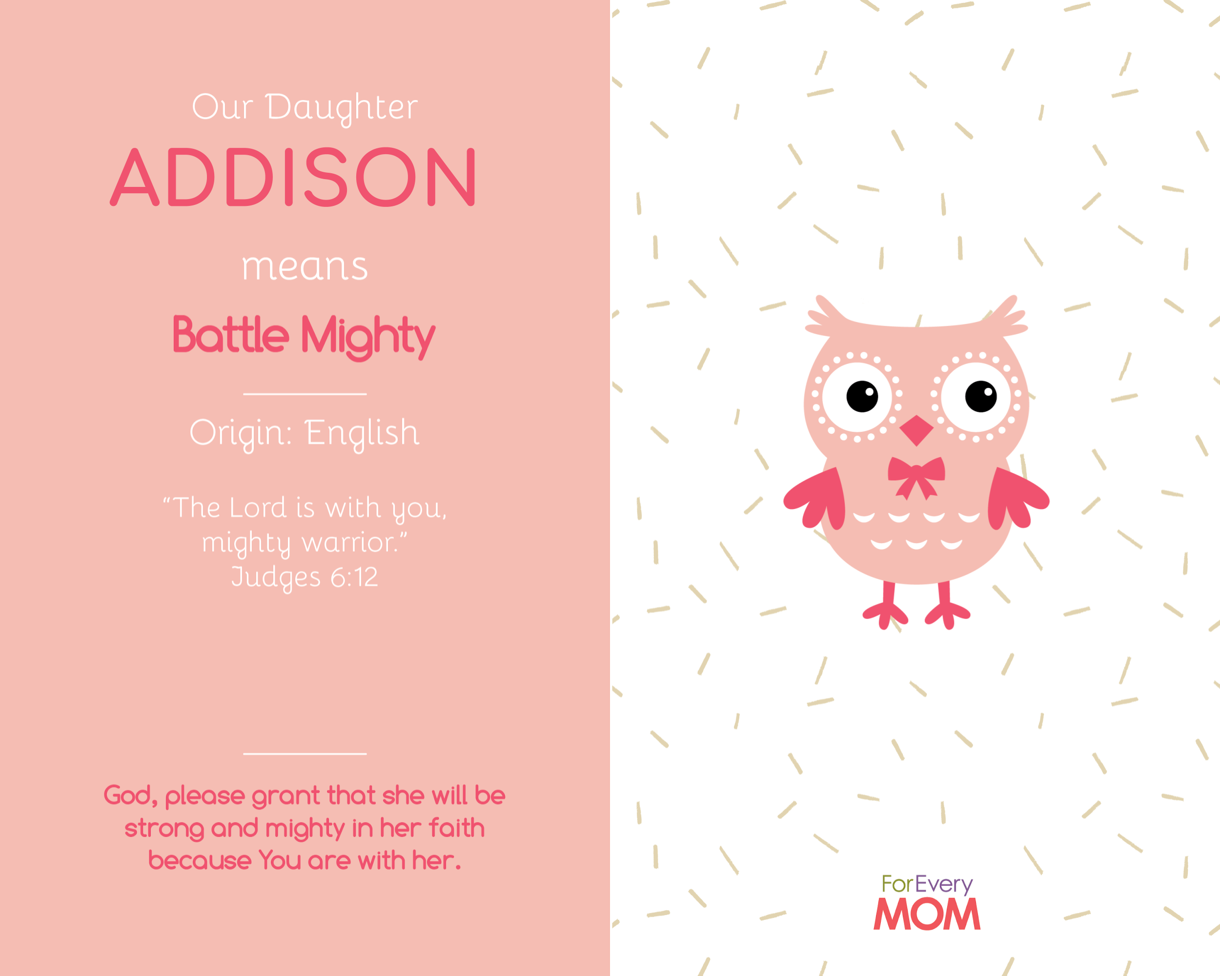 Addison baby girl names