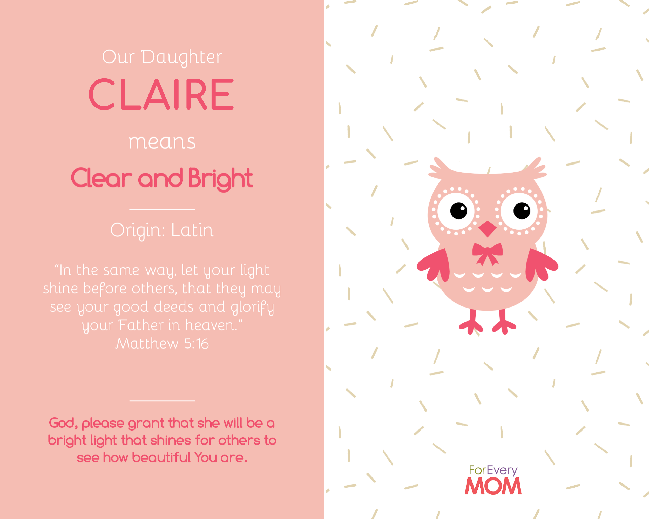 baby girl names Claire