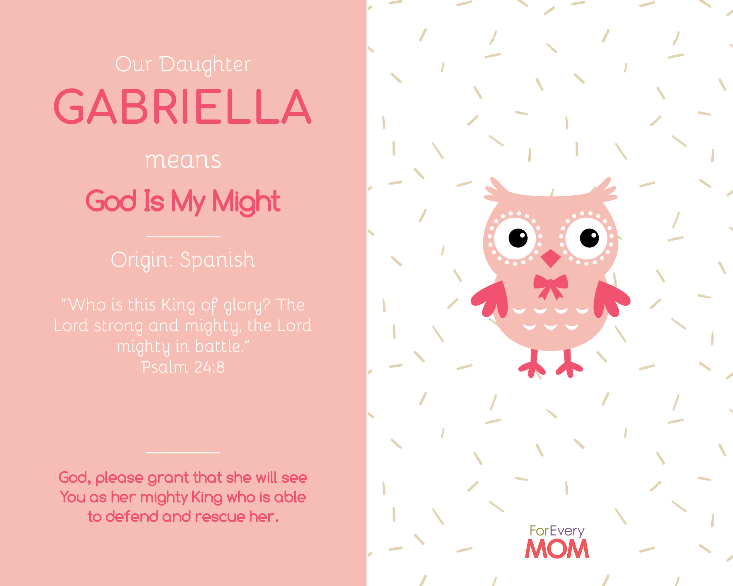 baby girl names Gabriella
