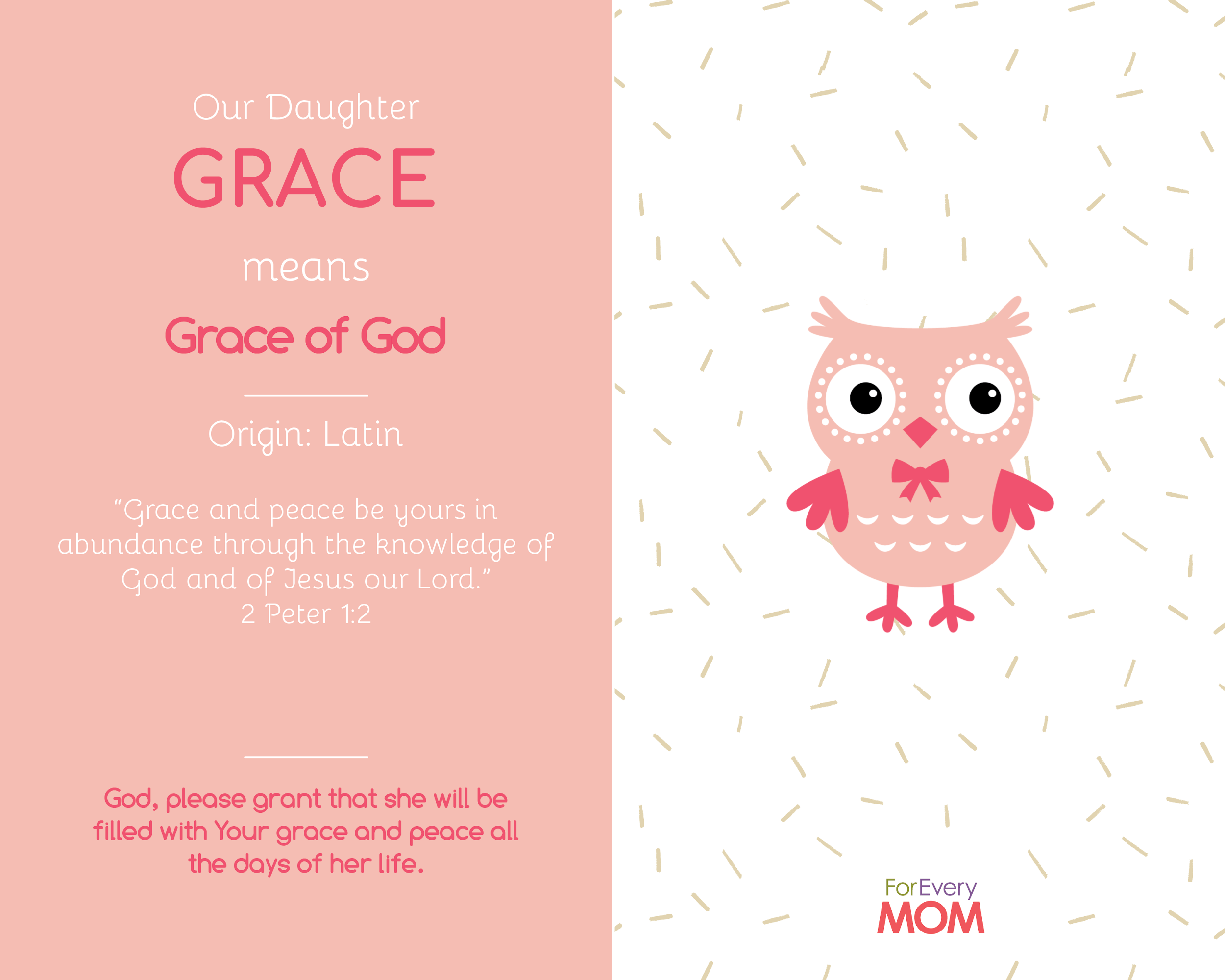 Grace baby girl names