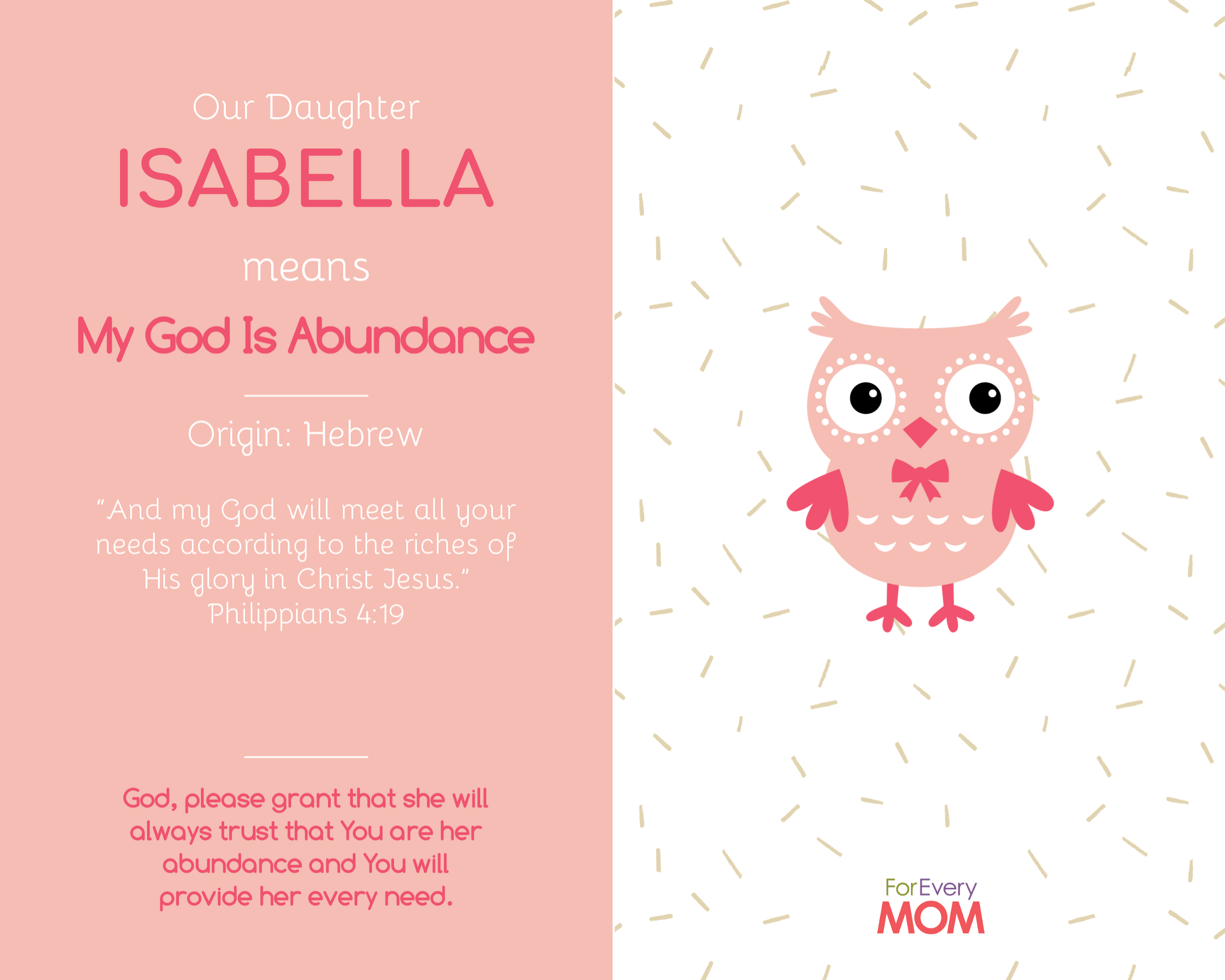 baby girl names and meanings Isabella