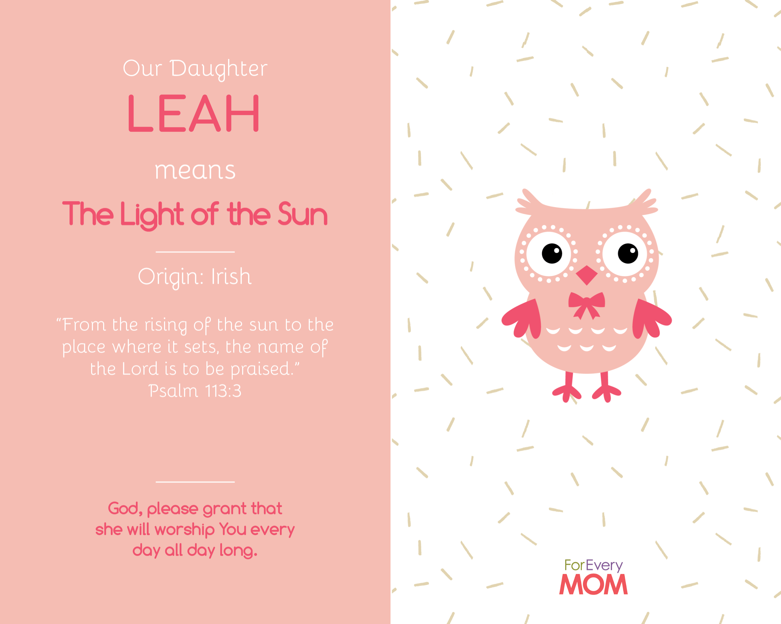 baby girl names leah