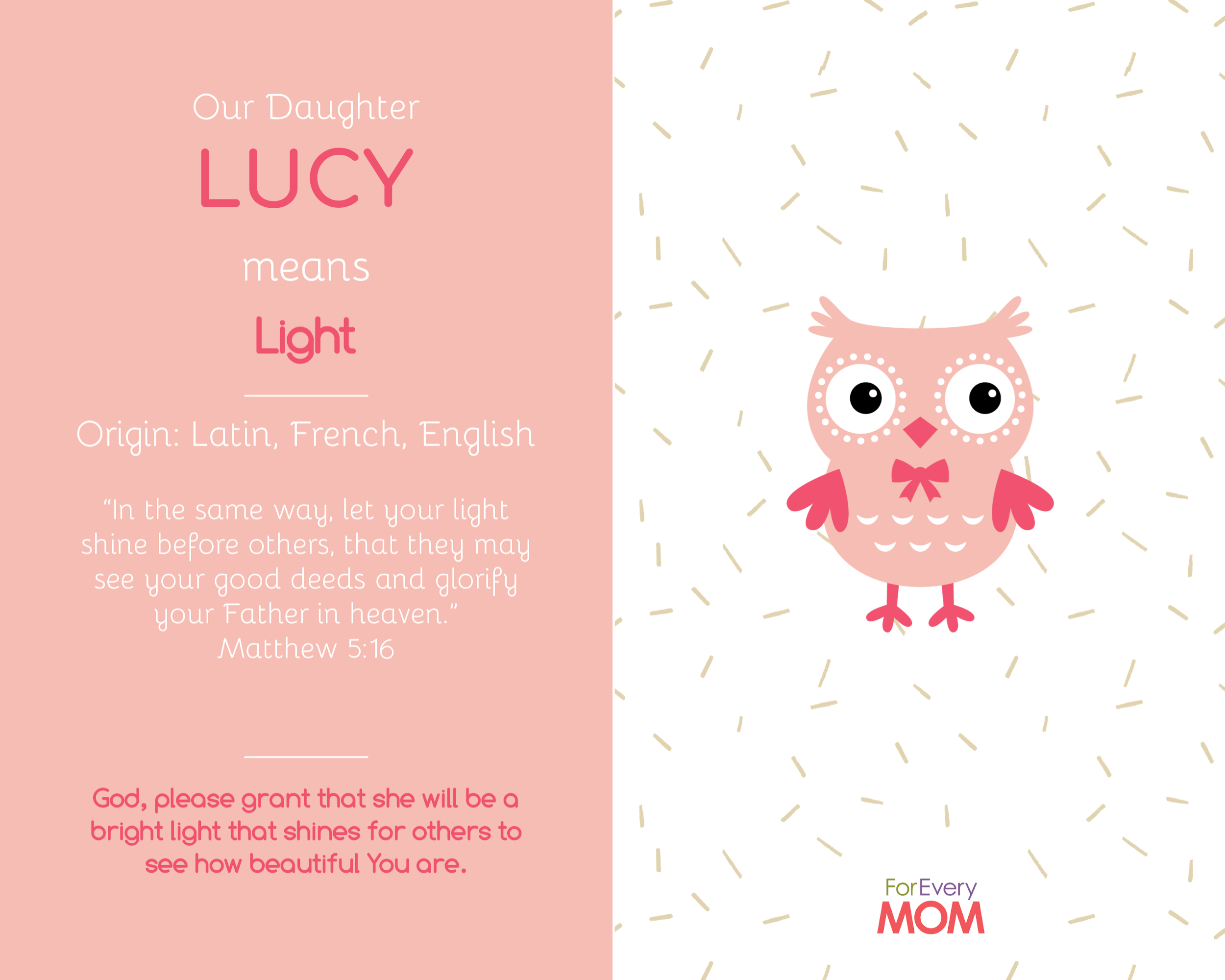 baby girl names Lucy