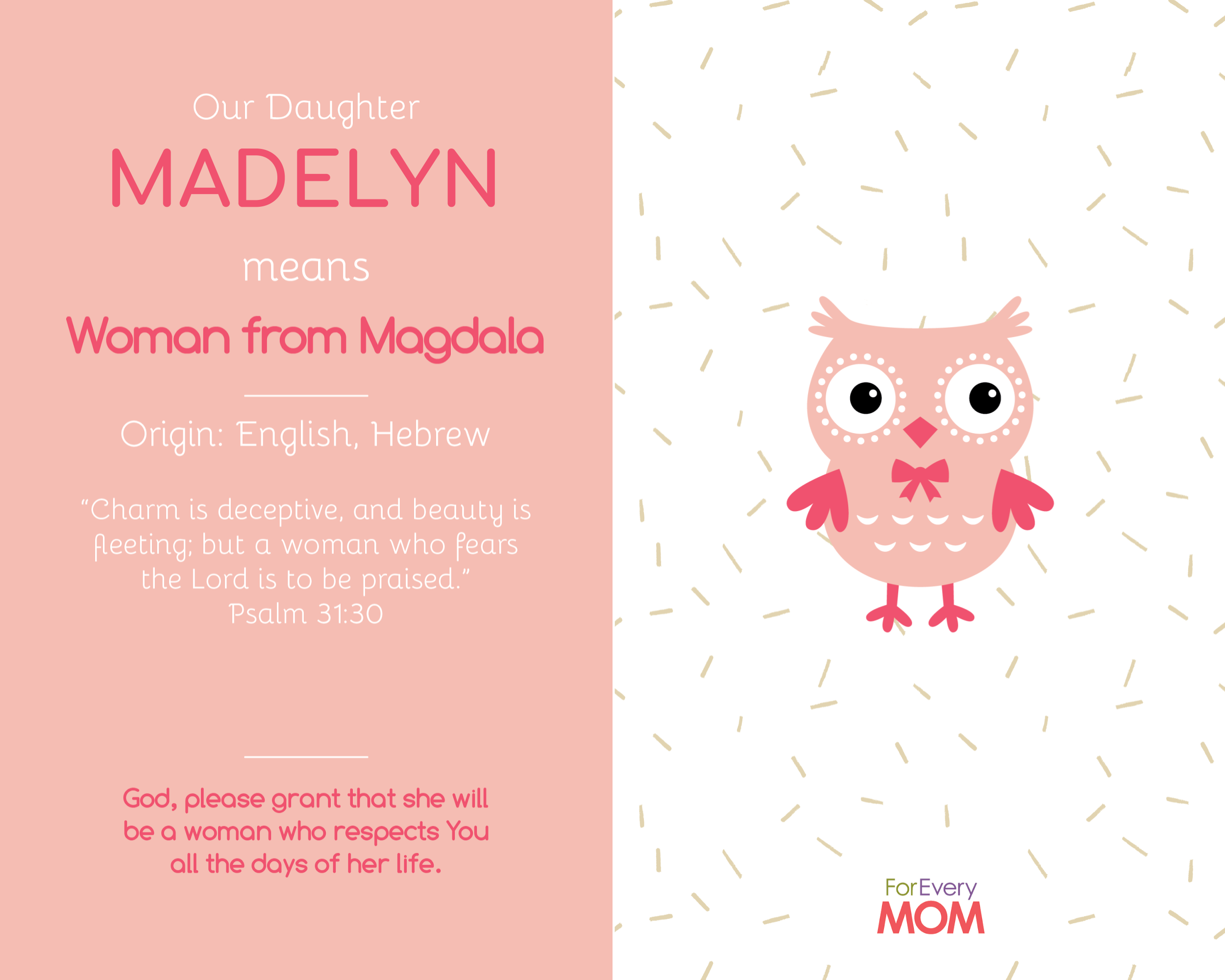 baby girl names Madelyn