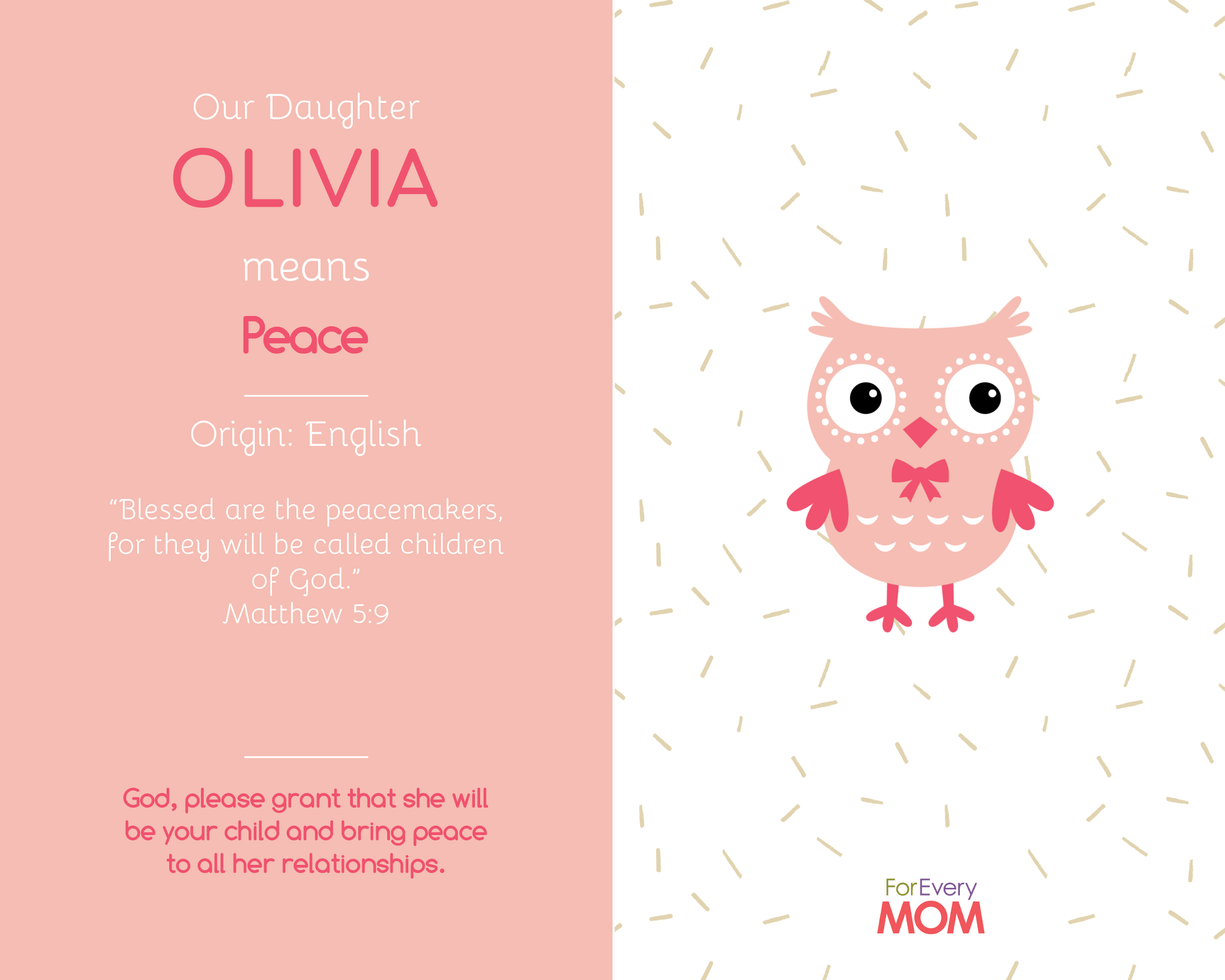 baby girl names and meanings Olivia