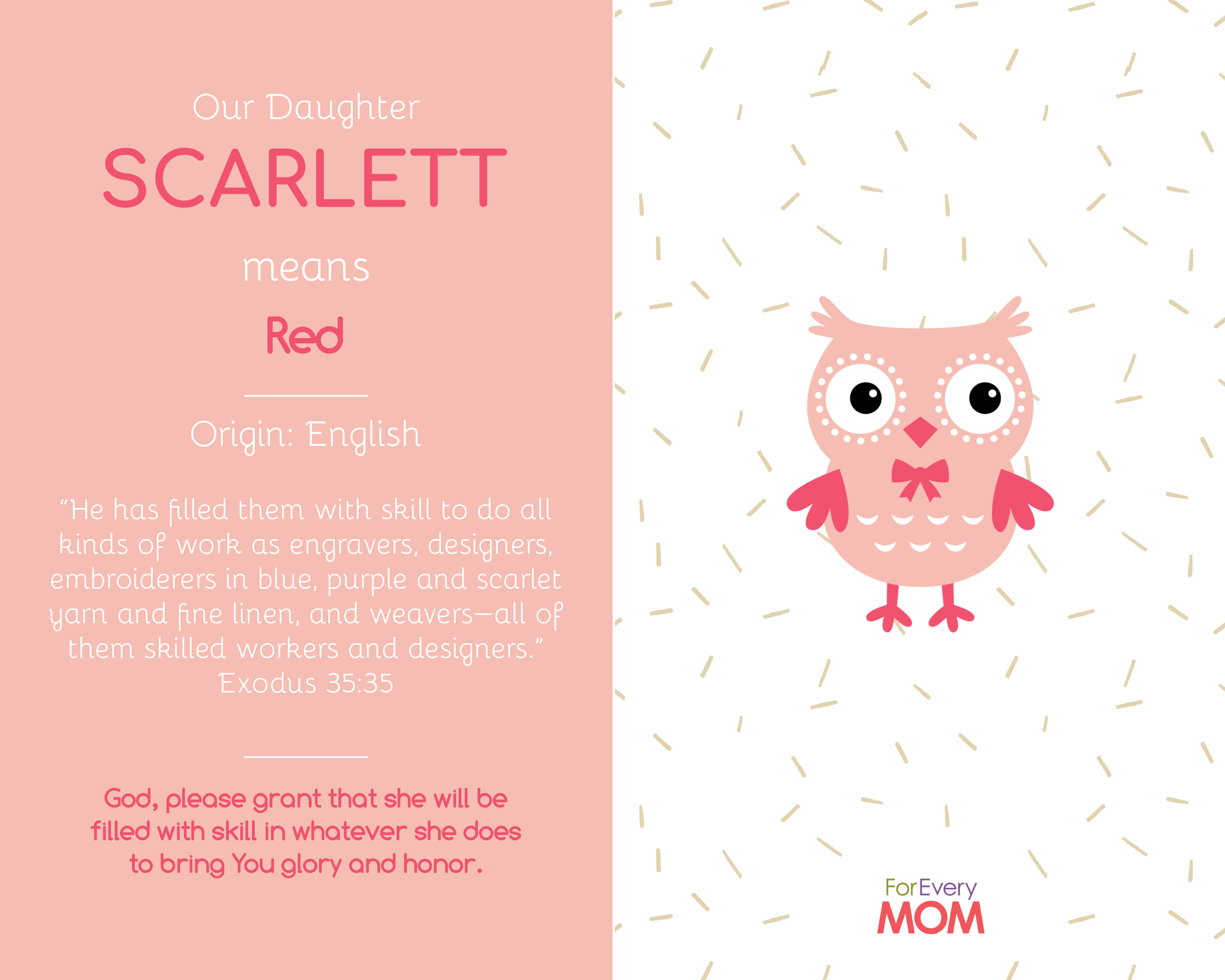 baby girl names Scarlett