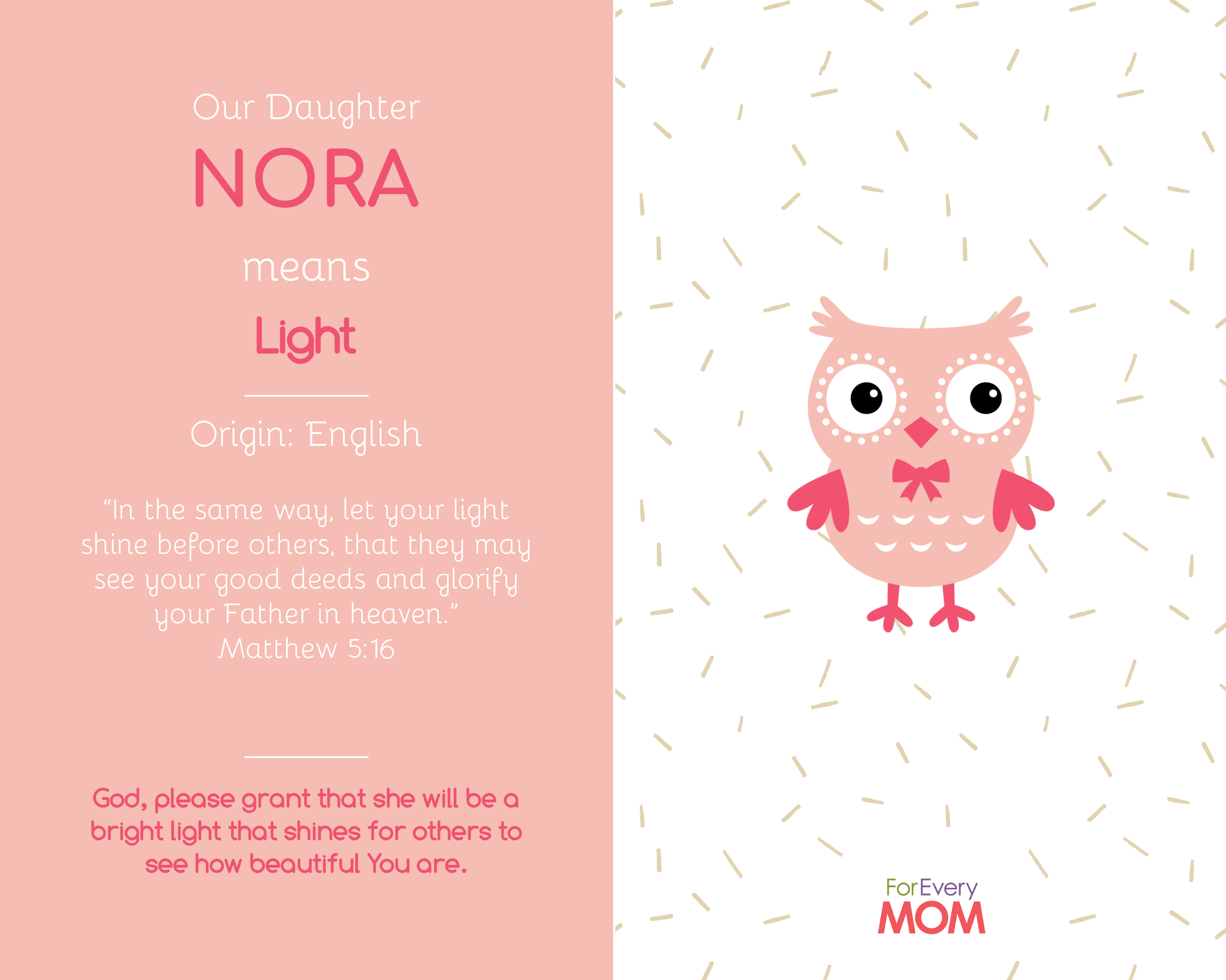 baby girl names Nora