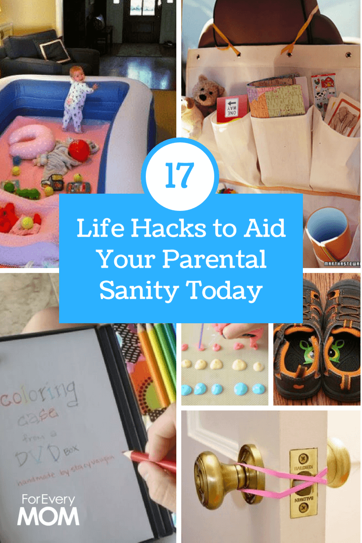 Some really creative parent life hacks you may never have thought about.