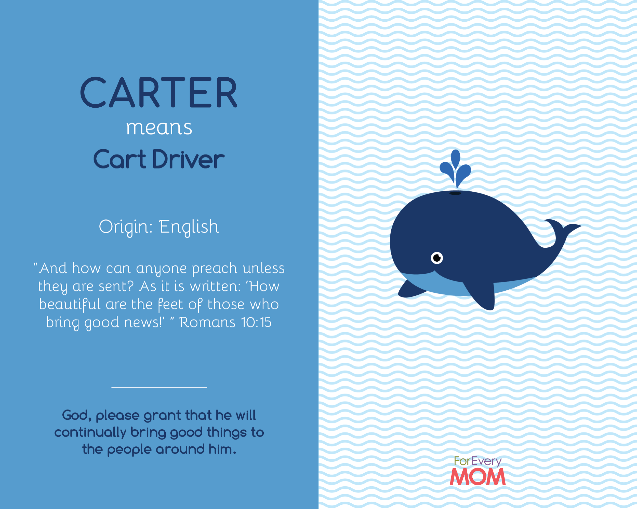 baby boy name Carter