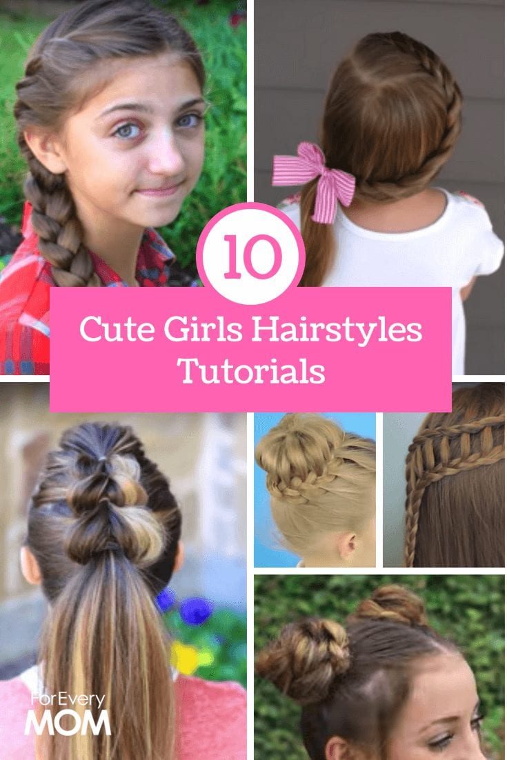 These cute girls hairstyles are all the rage. Here are cute girls hairstyles on youtube that will teach you exactly how to do it. Trust me, if I can do it, so can you.