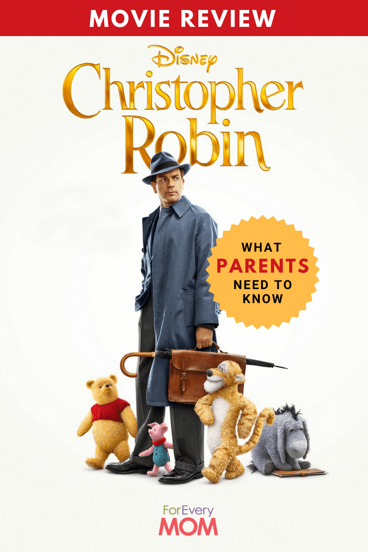 There are a few highlights I'd like to hit as to why I'd recommend the Christopher Robin movie for families, and some things parents might want to know going in.