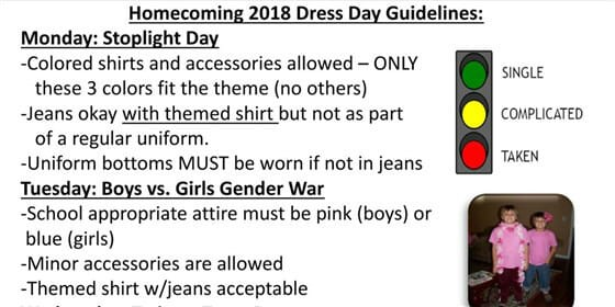 spirit week dress up