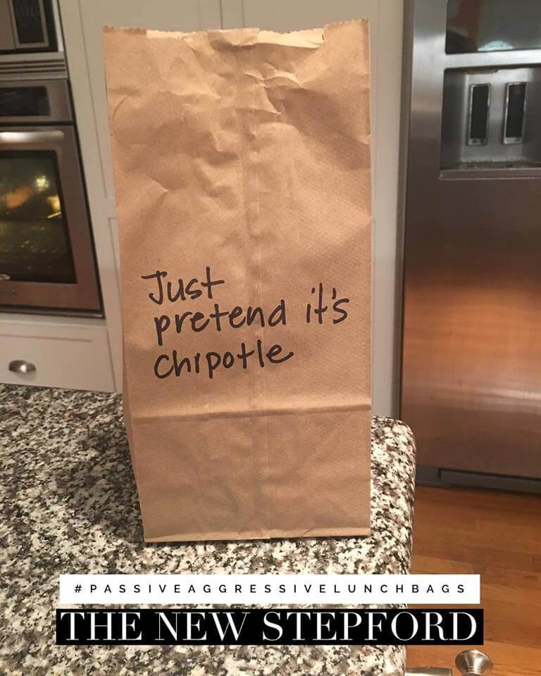 passive aggressive lunch bag notes