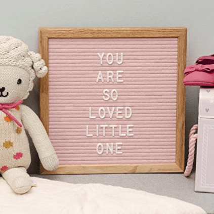 baby girl nursery letter board
