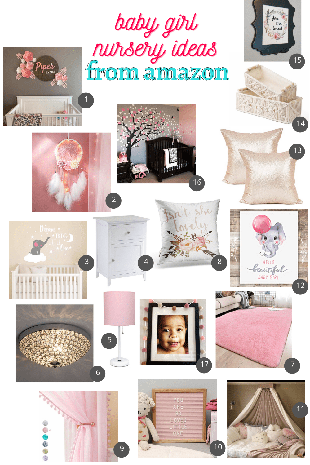 baby girl nursery ideas amazon must haves