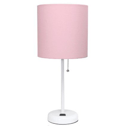 baby girl nursery pink table lamp