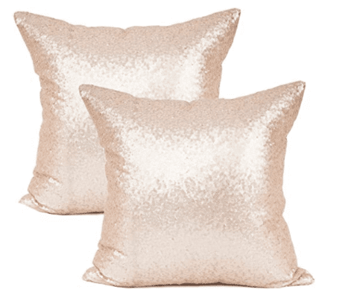 baby girl nursery ideas glitter throw pillows