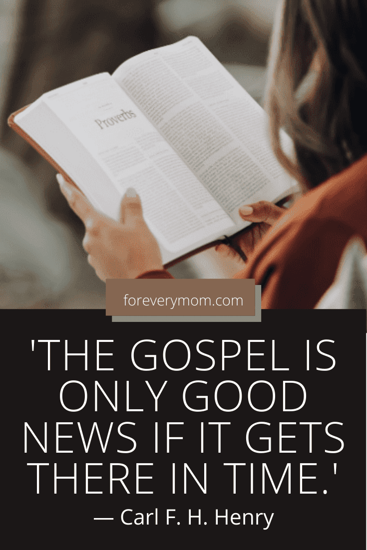 the gospel is only good news if it gets there in time