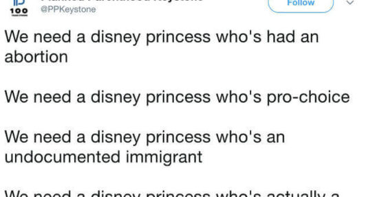 planned parenthood disney princess tweet